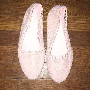 Crochet pink flats